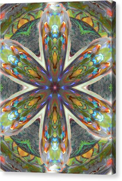 Abalone Christ Mandala Canvas Print