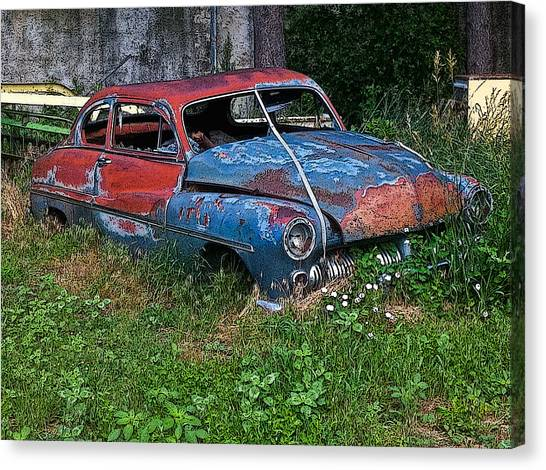 Abandoned 1950 Mercury Monteray Buick Canvas Print