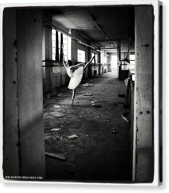 Ballerinas Canvas Print - Abandoned Airplane Factory Follow Me by Marco Cappalunga