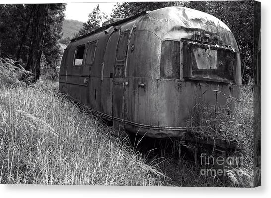 Junk Canvas Print - Abandoned Airstream In The Jungle by Edward Fielding