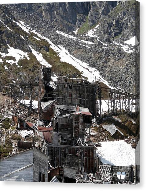 Abandoned Alaskan Gold Mine Canvas Print