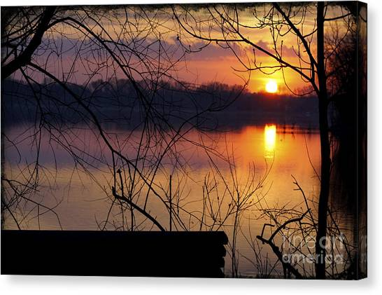 Abandoned At Sunset Canvas Print