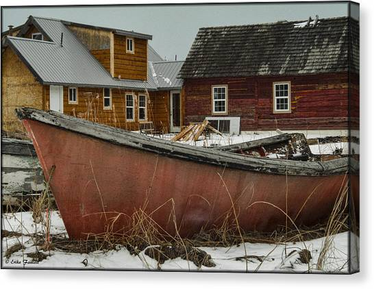 Abandoned Boat Canvas Print