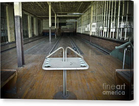 Bowling Shoes Canvas Print - Abandoned Bowling Ally by Jessica Berlin