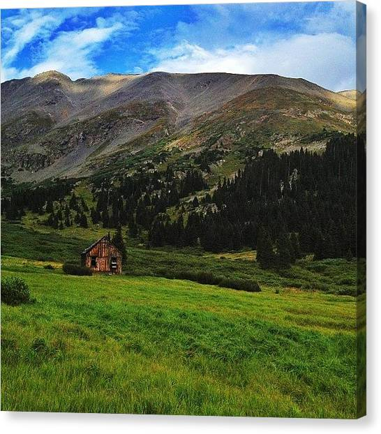 Rocky Mountains Canvas Print - Abandoned Building In Mountains by Jonathan Joslyn