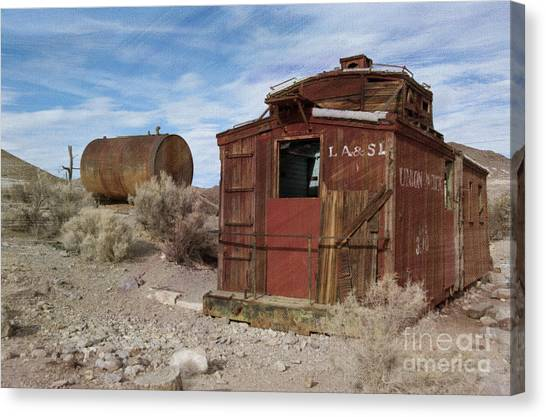 Old Caboose Canvas Print - Abandoned Caboose by Juli Scalzi
