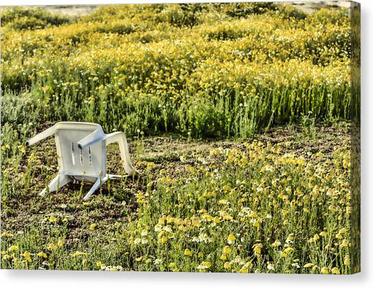 Abandoned Chair Canvas Print