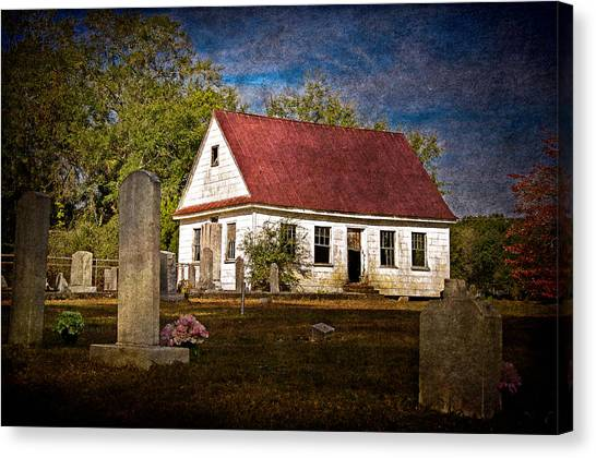Abandoned Church And Graves Canvas Print