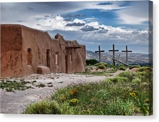 Abandoned Church In Abiquiu New Mexico Canvas Print