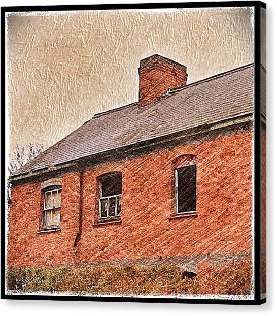 Farmhouse Canvas Print - Abandoned Farmhouse by Polly Rhodes