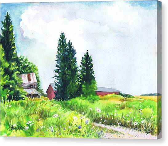 Abandoned Farmhouse Canvas Print by Susan Herbst