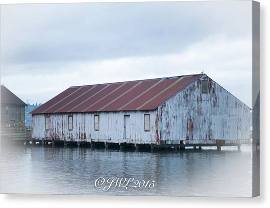 Abandoned Fishery Plant Canvas Print