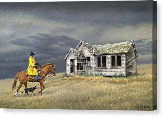 Idaho Canvas Print - Abandoned Homestead-eastern Idaho by Paul Krapf