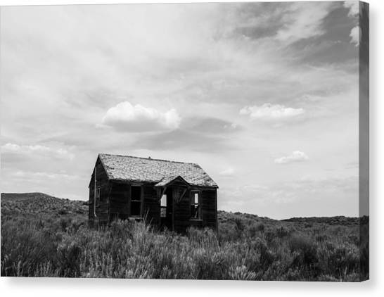 Abandoned House In Oklahoma Canvas Print