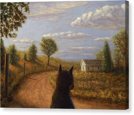Dirt Road Canvas Print - Abandoned House by James W Johnson