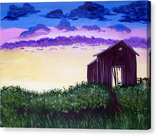 Abandoned In The Evening Canvas Print by Joy Gilley