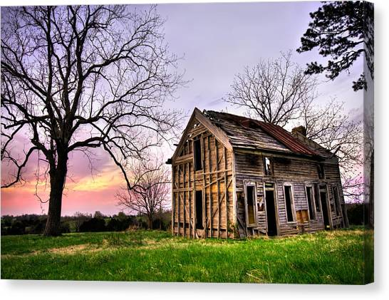 Old Houses Canvas Print - Abandoned Memories - Gateway, Arkansas by Gregory Ballos