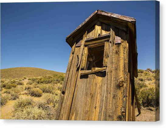 Abandoned Outhouse Canvas Print
