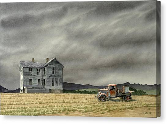 Old Trucks Canvas Print - Abandoned   by Paul Krapf