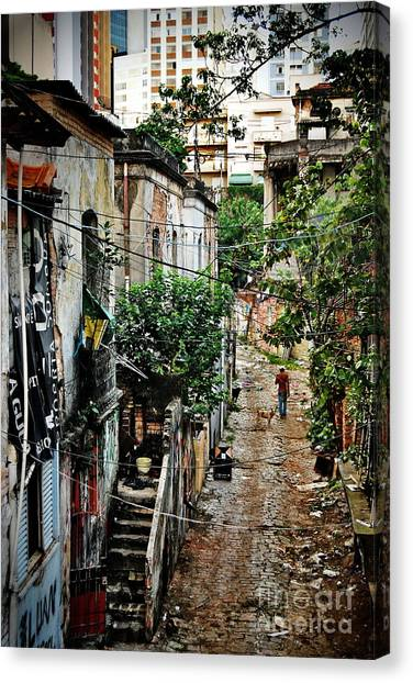 Abandoned Place In Sao Paulo Canvas Print