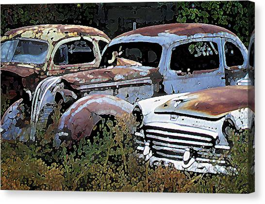Abandoned Row Canvas Print