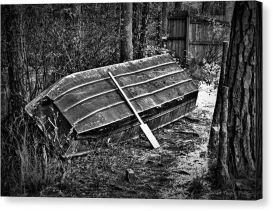 Abandoned Rowboat Canvas Print