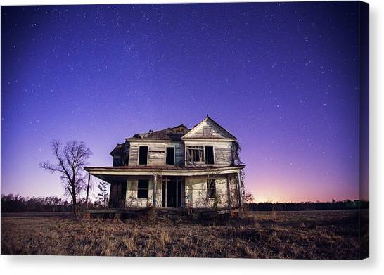 Abandoned Rural Farmhouse Canvas Print by Malcolm Macgregor