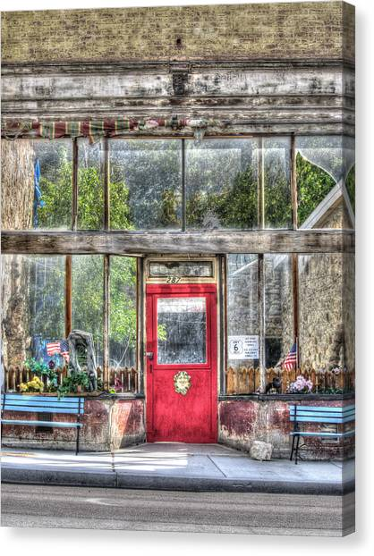 Abandoned Shop Canvas Print