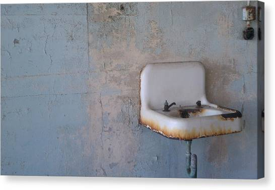 Abandoned Sink Canvas Print