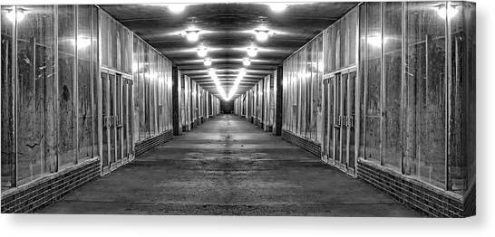 Shopping Canvas Print - Abandoned Strip Mall Panoramic by Tom Mc Nemar