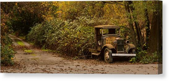 Abandoned Truck Canvas Print