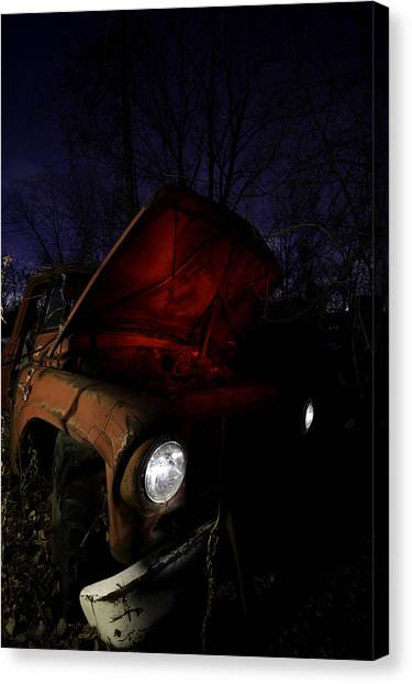 Junk Canvas Print - Abandoned Truck by Cale Best