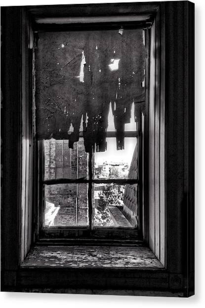 Harlem Canvas Print - Abandoned Window by H James Hoff