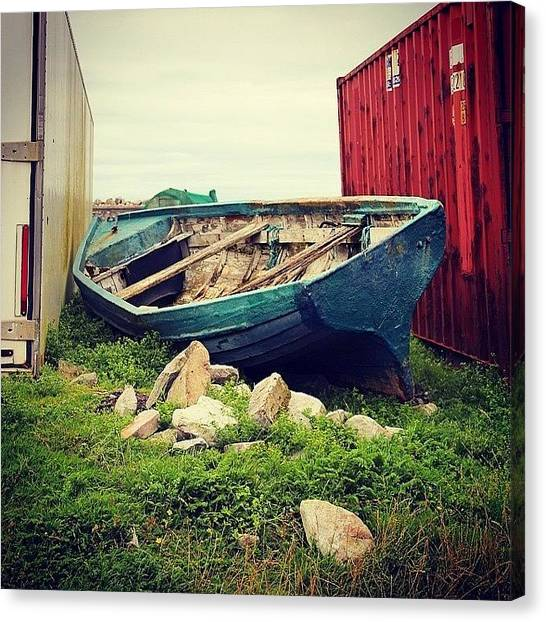 Ireland Canvas Print - #abbandoned #boat by Luisa Azzolini
