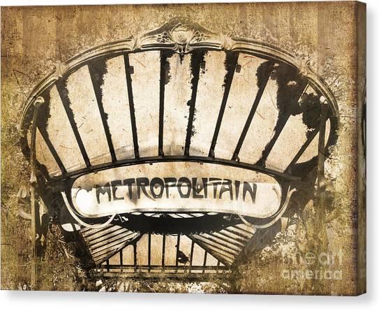 Romanticism Canvas Print - Abbesses Metropolitain by Delphimages Photo Creations