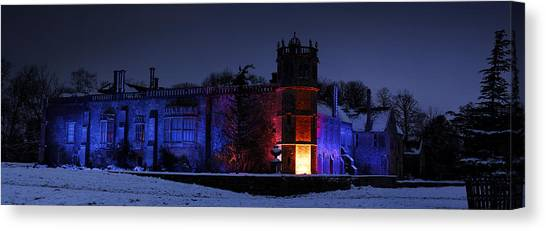 Abbey At Night Canvas Print