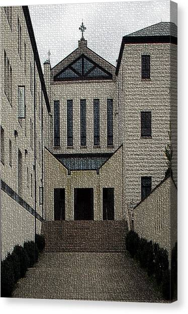 Trappist Monk Canvas Print - Abbey Of Gethsemani-entrance II by Thia Stover