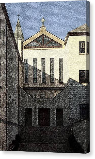 Trappist Monk Canvas Print - Abbey Of Gethsemani-entrance by Thia Stover