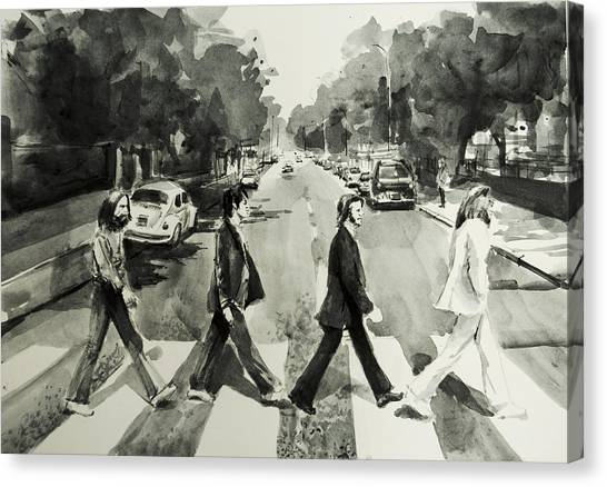 George Harrison Canvas Print - Abbey Road by Bekim Art