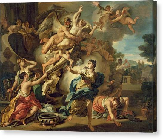 Abduction Canvas Print - Abduction Of Orithyia by Francesco Solimen