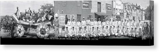 Maryland Horses Canvas Print - Aberdeen Fire Company At Maryland State by Fred Schutz Collection