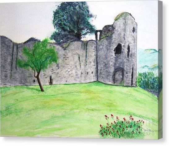 Abergavenny Castle Canvas Print