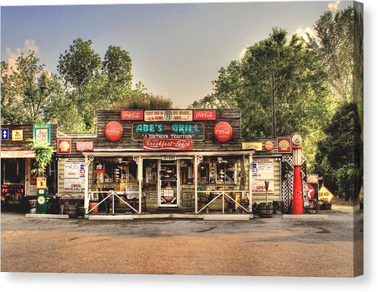 Abe's Grill - Fine Southern Food Canvas Print