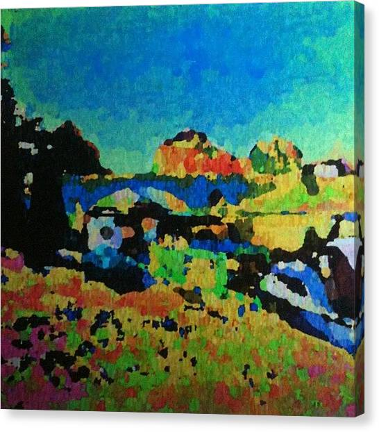 Expressionism Canvas Print - Abingdon Bridge by Stephen Lock