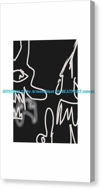 Surrealism Canvas Print - Ablaz Elektro Dz Deux by Armando Lopez de Elizalde