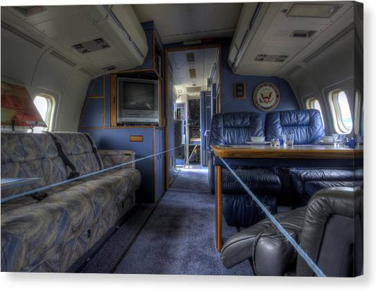 Aboard Air Force Two Canvas Print