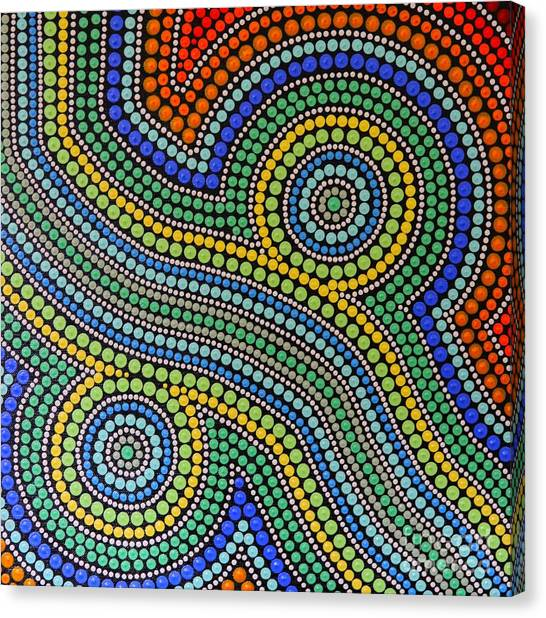 Aboriginal Inspirations 15 Canvas Print