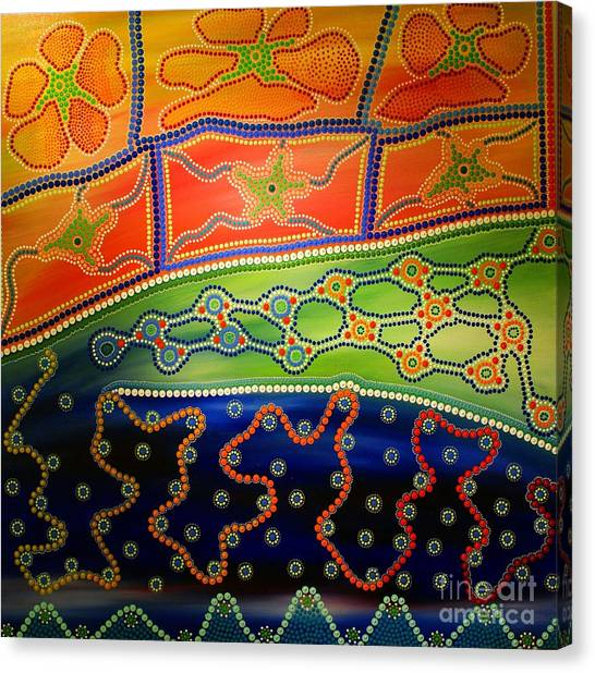 Original Sold Aboriginal Inspirations 7 Canvas Print