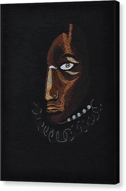 Aboriginal Woman Canvas Print