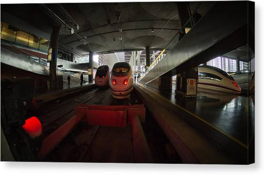 Bullet Trains Canvas Print - About To Depart by Pablo Lopez